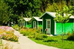 Casas pequenas em seguido Fotos de Stock Royalty Free