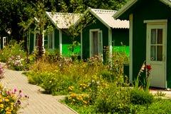 Casas pequenas em seguido Foto de Stock Royalty Free