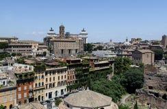Casas perto de Roman Forum Fotografia de Stock