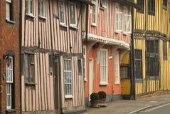 Casas pintorescas del tudor Imagen de archivo libre de regalías