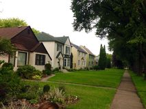 Casas privadas Fotos de Stock Royalty Free