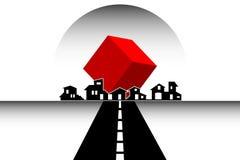 Casas - propiedades inmobiliarias - construcción Fotos de archivo libres de regalías