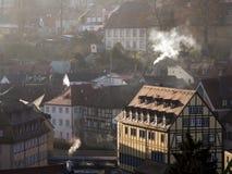 Casas que fuman Foto de archivo