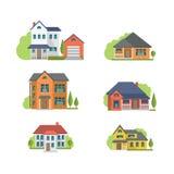 Casas residenciais Fotografia de Stock