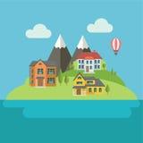 Casas residenciais Foto de Stock