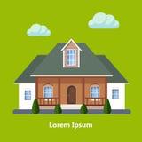 Casas residenciais lisas coloridas Fotografia de Stock Royalty Free