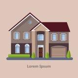Casas residenciais lisas coloridas Foto de Stock Royalty Free