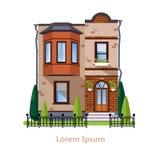 Casas residenciais lisas coloridas Imagem de Stock Royalty Free