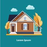 Casas residenciais lisas coloridas Foto de Stock