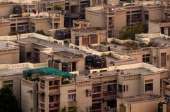Casas residenciais modernas concretas em Deli Noida Imagens de Stock