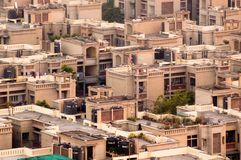 Casas residenciais modernas concretas em Deli Noida Foto de Stock