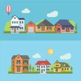 Casas residenciales Imagen de archivo libre de regalías