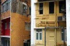Casas residenciales en Hong Kong Imagen de archivo libre de regalías