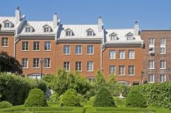 Casas residenciales en Montreal Imágenes de archivo libres de regalías