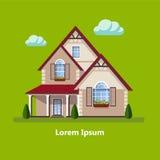 Casas residenciales planas coloridas Imagen de archivo
