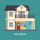 Casas residenciales planas coloridas Imagen de archivo libre de regalías