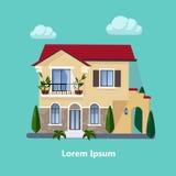 Casas residenciales planas coloridas Foto de archivo