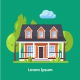 Casas residenciales planas coloridas Fotografía de archivo