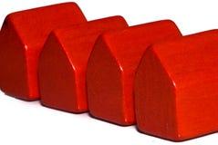 Casas rojas foto de archivo libre de regalías