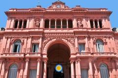 Casas Rosada Fotos de archivo libres de regalías