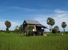 Casas rurais em Cambodia Fotografia de Stock