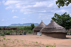 Casas rurales en África Imagen de archivo libre de regalías