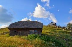 Casas rurales en Sirnea Foto de archivo
