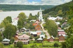 Casas rusas tradicionales Fotografía de archivo libre de regalías