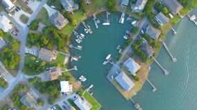 Casas sadias da praia de Topsail, North Carolina imagem de stock