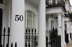 Casas sequencialmente numeradas Fotografia de Stock