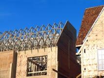 Casas sob a construção Fotografia de Stock Royalty Free