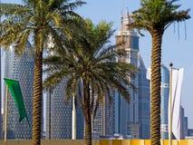 Casas sob a construção em Dubai imagens de stock