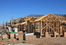 Casas sob a construção, Sydney, Austrália imagens de stock