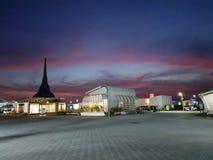 Casas solares del Medio Oriente del decatlón en Dubai fotos de archivo libres de regalías