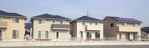 Casas solares japonesas Foto de Stock