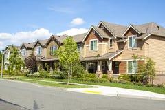 Casas suburbanas foto de stock royalty free