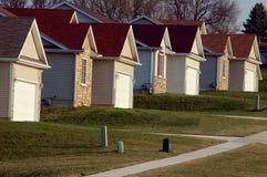 Casas suburbanas Imagens de Stock Royalty Free