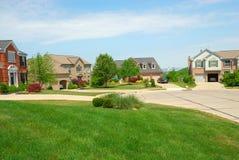 Casas suburbanas del callejón sin salida Imagen de archivo libre de regalías