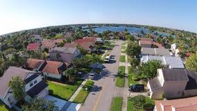 Casas suburbanas na opinião aérea de Florida fotos de stock