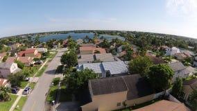 Casas suburbanas vistas de cima de fotografia de stock royalty free