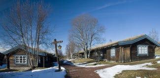 Casas suecos velhas bonitas Fotografia de Stock
