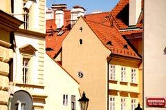 Casas típicas de Praga velha Imagens de Stock