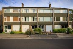 Casas típicas do terraço dos anos 70 Imagens de Stock