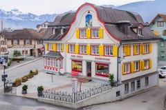 Casas típicas, em Appenzell Imagem de Stock Royalty Free
