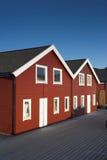 Casas típicas em Noruega imagem de stock