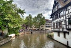 Casas típicas em Strasbourg Fotos de Stock Royalty Free