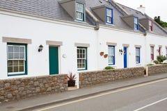 Casas típicas en Jersey, Reino Unido Fotos de archivo libres de regalías