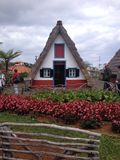 Casas típicas madeirenses / Typical thatched houses in Madeira Stock Photo