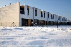 Casas terraced modernas da família com um balcão Imagem de Stock