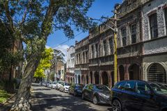 Casas Terraced, Surry Hills, Sydney, Austrália imagens de stock royalty free
